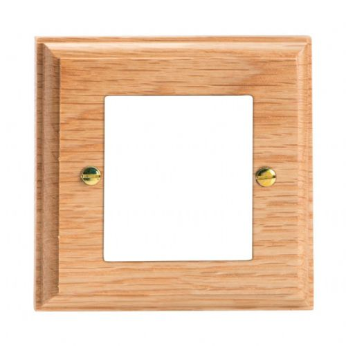 Varilight XKG2O Kilnwood Oak DataGrid Plate (2 DataGrid Spaces)